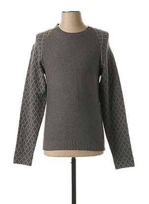 Pull col rond gris NO EXCESS pour homme