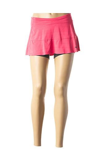 Jupe short rose MIZUNO pour femme