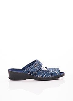 Chaussons/Pantoufles bleu FARGEOT pour femme