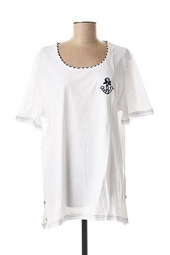 T-shirt manches courtes blanc DAMART pour femme