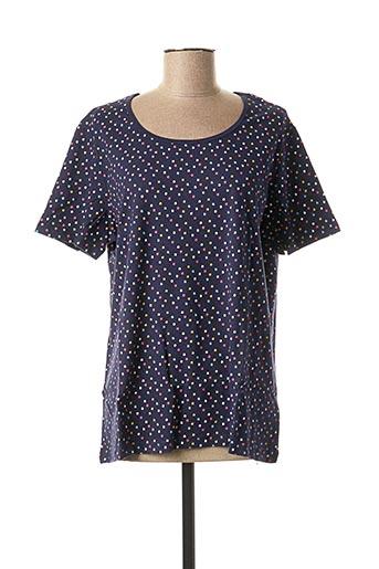 T-shirt manches courtes bleu DAMART pour femme