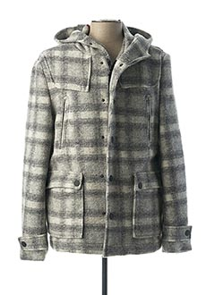Manteau court gris JOHN BARRIT pour homme
