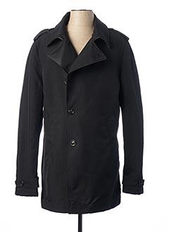 Manteau long noir JOHN BARRITT pour homme