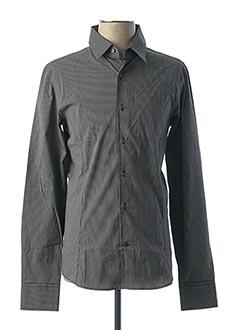 Chemise manches longues noir ERIC FILLIAT pour homme