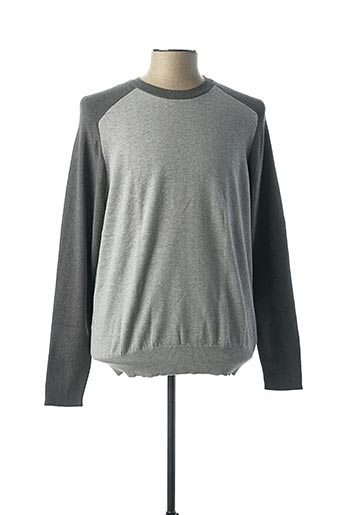 Pull col rond gris BILL TORNADE pour homme