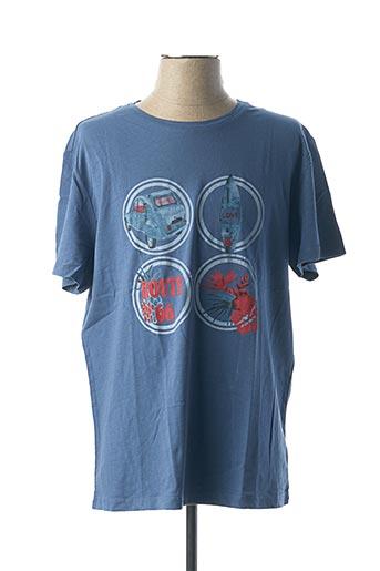 T-shirt manches courtes bleu AT.P.CO pour homme