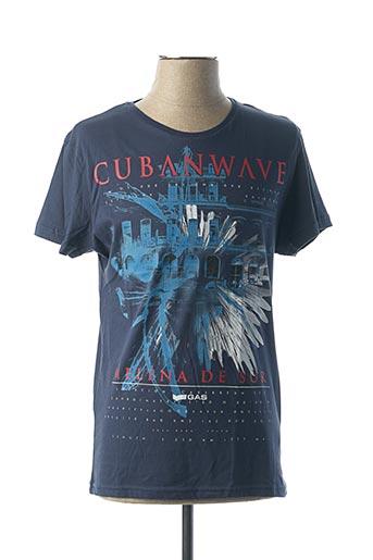 T-shirt manches courtes noir GAS pour homme
