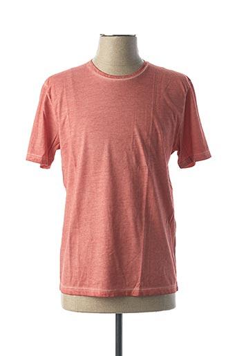 T-shirt manches courtes orange VNECK pour homme