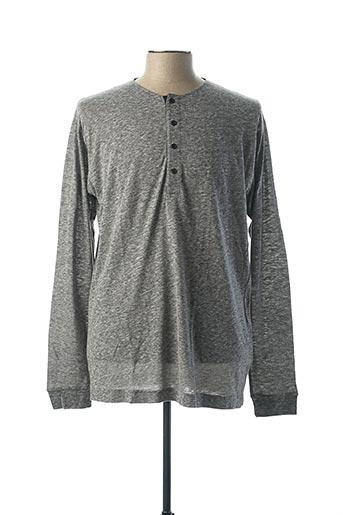 T-shirt manches longues gris BILL TORNADE pour femme