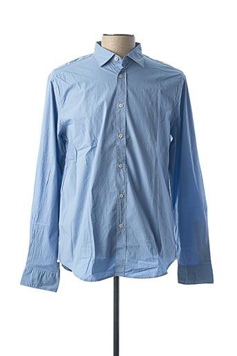 Chemise manches longues bleu GAS pour homme