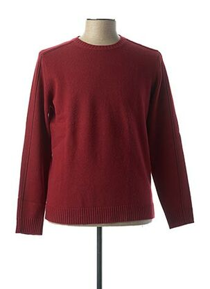 Pull col rond rouge VNECK pour homme