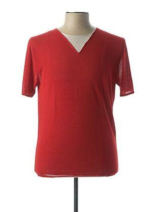 T-shirt manches courtes rouge VNECK pour homme