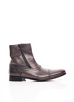 Bottines/Boots gris GIANNI EMPORIO pour homme