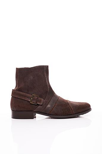 Bottines/Boots marron BRETT & SONS pour homme