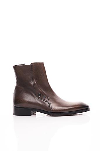 Bottines/Boots marron GIANNI EMPORIO pour homme