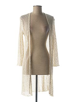 Gilet manches longues beige SEE THE MOON pour femme