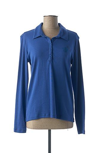 Polo manches longues bleu THALASSA pour femme