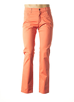 Pantalon casual orange LCDN pour homme