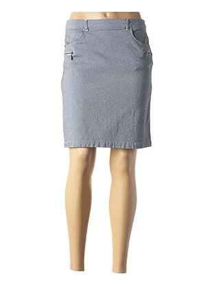 Jupe courte bleu THALASSA pour femme