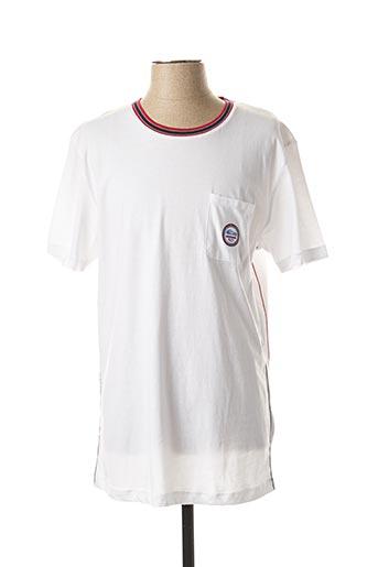 T-shirt manches courtes blanc DARIO BELTRAN pour homme