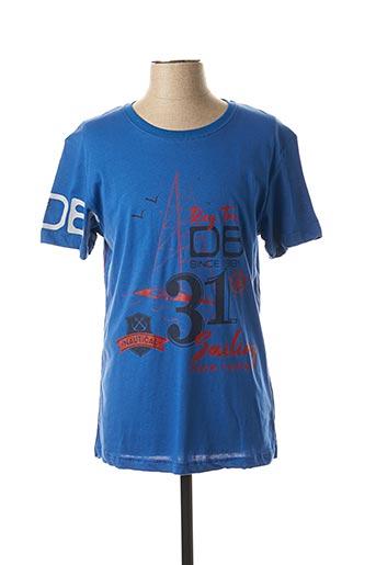 T-shirt manches courtes bleu DARIO BELTRAN pour homme