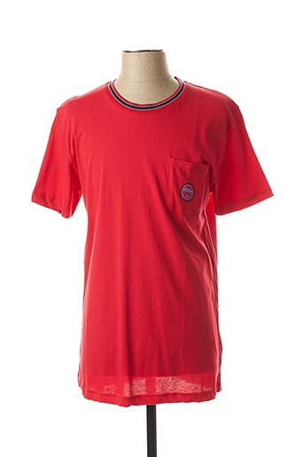 T-shirt manches courtes rouge DARIO BELTRAN pour homme
