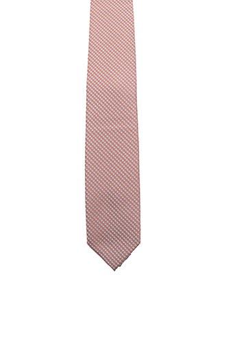 Cravate orange FRED GIL pour homme