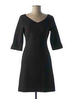 Robe mi-longue noir ALIZARINE pour femme
