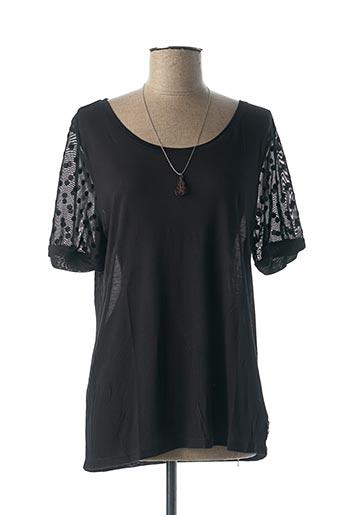 T-shirt manches courtes noir MAISON SCOTCH pour femme