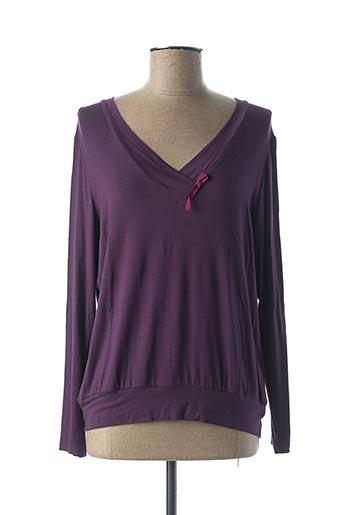 T-shirt manches longues violet ALIZARINE pour femme