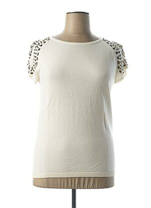 Pull col rond blanc MEXX pour femme