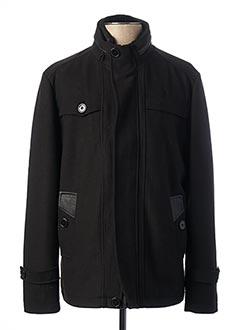 Manteau court noir RIVER SKIN pour homme