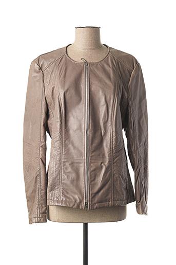 Veste en cuir marron BASLER pour femme