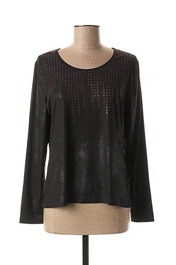 T-shirt manches longues noir PAUSE CAFE pour femme