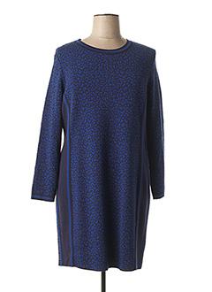 Robe mi-longue bleu FABER pour femme