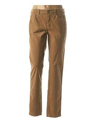 Pantalon casual beige BASLER pour femme