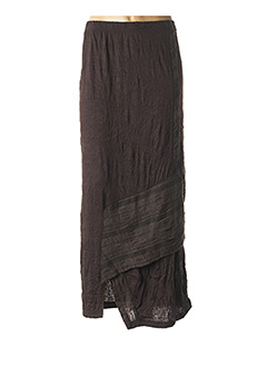 Jupe longue marron OLIVER JUNG pour femme