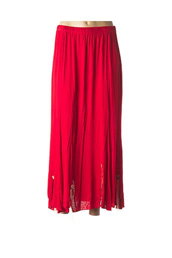 Jupe longue rouge EDMOND BOUBLIL pour femme