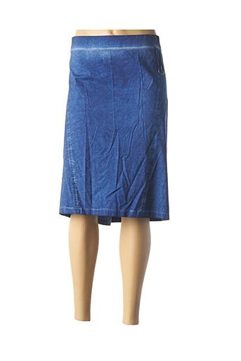 Jupe mi-longue bleu JEAN GABRIEL pour femme