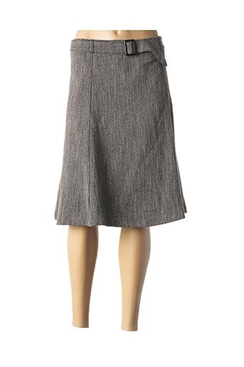 Jupe mi-longue gris CAPUCCINA pour femme