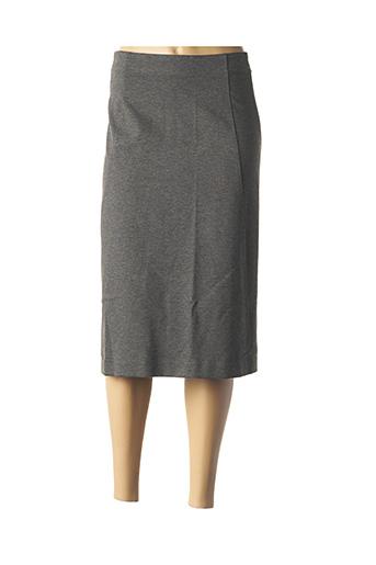 Jupe mi-longue gris ELENA MIRO pour femme