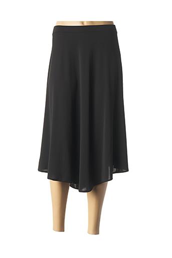 Jupe mi-longue noir ELENA MIRO pour femme