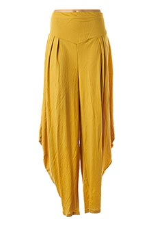 Sarouel jaune JEAN MARC PHILIPPE pour femme
