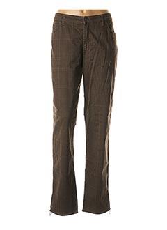 Pantalon casual marron CARMEN pour femme