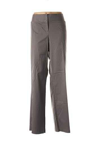 Pantalon chic gris CAPUCCINA pour femme