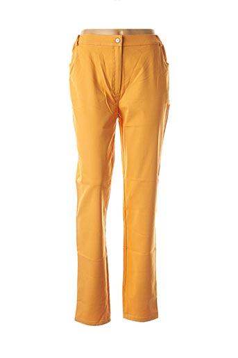 Pantalon casual orange ALAIN MURATI pour femme