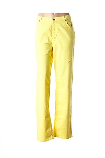 Pantalon casual jaune JEAN GABRIEL pour femme