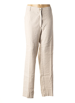 Pantalon casual beige JEAN GABRIEL pour femme