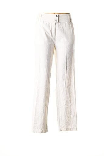 Pantalon casual beige NID D'ABEILLE pour femme