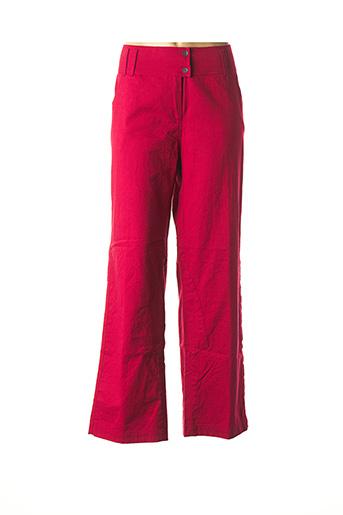 Pantalon casual rouge NID D'ABEILLE pour femme